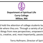 Testimonial from Curry College