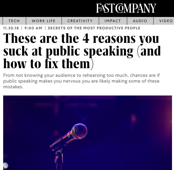 ingenious communication public speaking fast company